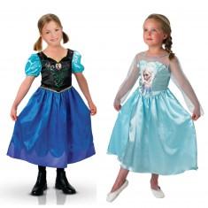 Déguisements La Reine des Neiges (Frozen) : Coffret Classique Elsa + Anna : 5/6 ans
