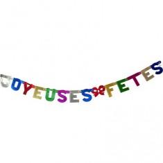 Guirlandes Joyeuses Fêtes : Métallisées multicolores