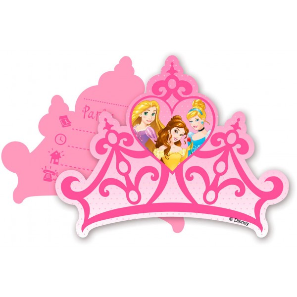 Invitations Princesse Disney™ x6 - 85006