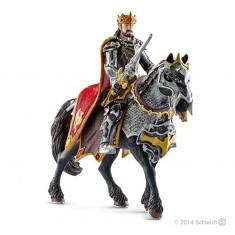 Chevalier dragon roi à cheval