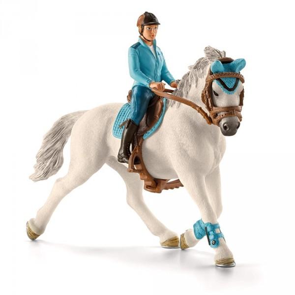 Figurine cavalière de compétition avec cheval - Schleich-42111