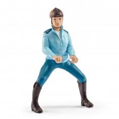 Figurine Cavalière de compétition turquoise