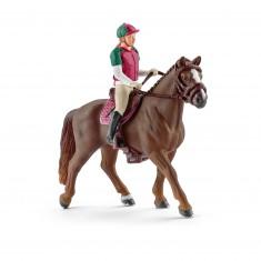 Figurine cavalière de concours complet