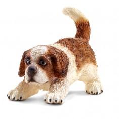 Figurine chien : Saint Bernard chiot