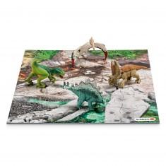 Figurine dinosaure : Mini dinosaures avec puzzle exploration