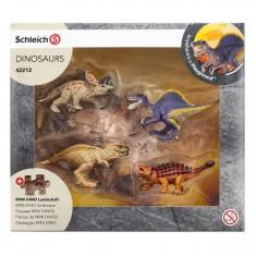 Figurine dinosaure : Mini dinosaures avec puzzle lave