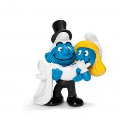 Figurine Schtroumpf se mariant