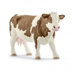 Figurine vache Simmental française
