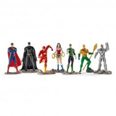 Figurines super héros : Grand set The Justice League : 7 figurines