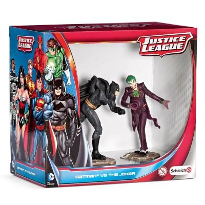 Figurines super h ros justice league scenery pack - Batman contre joker ...