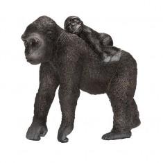 Figurine Gorille femelle avec son bébé