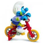Figurine Schtroumpf au vélo acrobatique