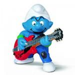 Figurine Schtroumpf guitariste