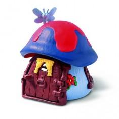 Mini maison Schtroumpf bleue