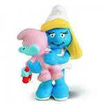 Figurine Schtroumpfette avec bébé