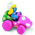 Figurine Schtroumpfette en voiture