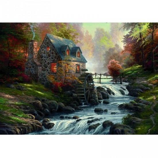 Puzzle 1000 pièces - Thomas Kinkade : Le vieux moulin - Schmidt-57486