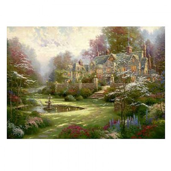 Puzzle 2000 pièces - Thomas Kinkade : La maison de campagne - Schmidt-57453