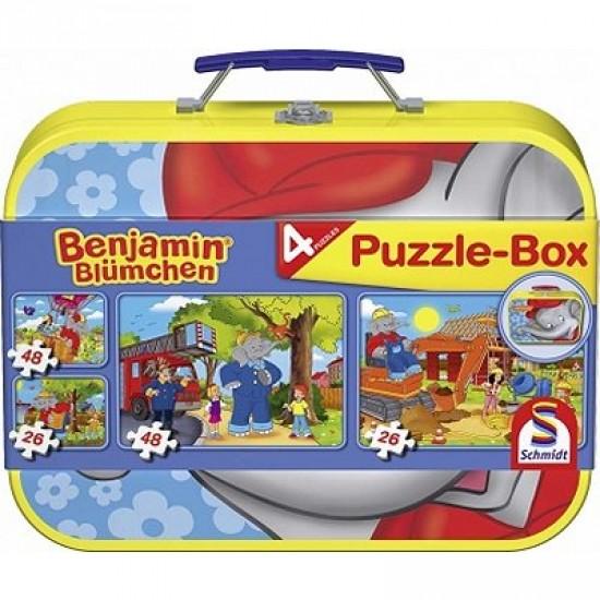 Puzzle 26 et 48 pièces - Coffret 4 puzzles : Benjamin l'éléphant - Schmidt-55594