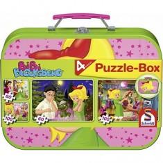 Puzzle 26 et 48 pièces - Coffret 4 puzzles : Les aventures de Bibi