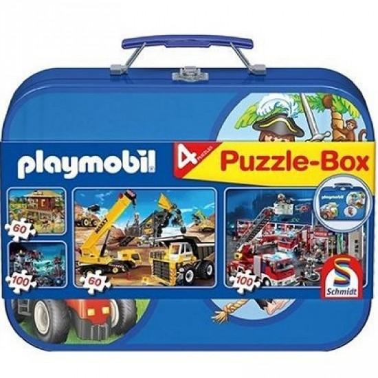 Puzzle 320 pièces - Valise Playmobil : 4 puzzles - Schmidt-55599