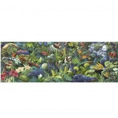 Puzzle 1000 pièces panoramique : Panorama de la jungle