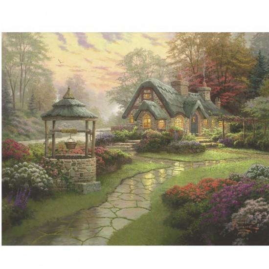 Puzzle 1000 pièces Thomas Kinkade : La maison du puits - Schmidt-58463