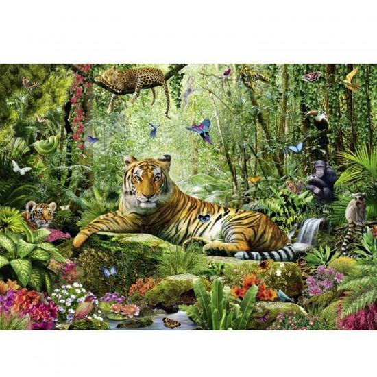 Puzzle 1500 pièces : La jungle des tigres - Schmidt-58188