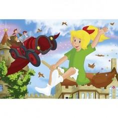 Puzzle 200 pièces - Bibi et Tina : Cabriolet volant