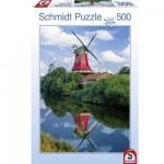 Puzzle 500 pièces : Moulins à vent