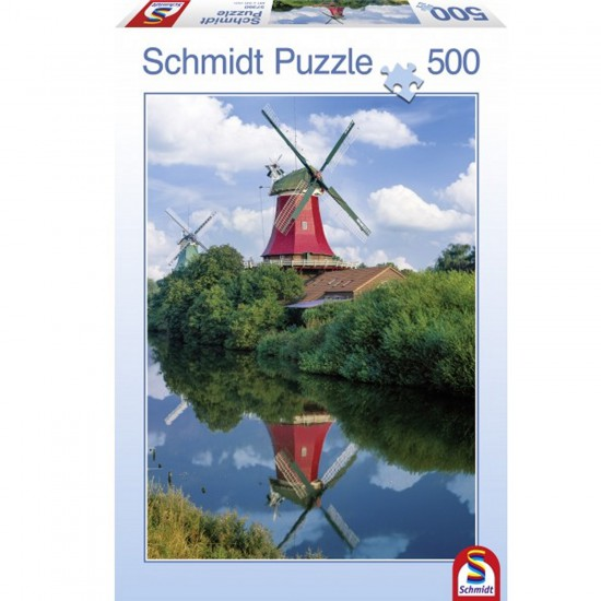 Puzzle 500 pièces : Moulins à vent - Schmidt-57360
