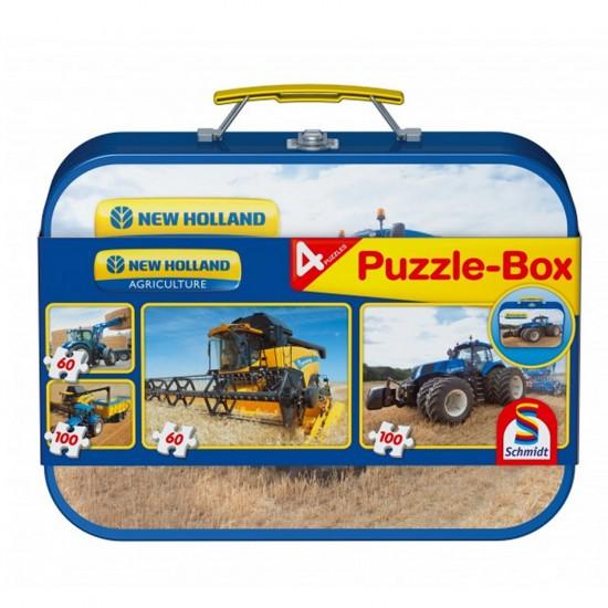 Puzzle 60 et 100 pièces : Coffret 4 puzzles : Tracteurs New Holland - Schmidt-56507