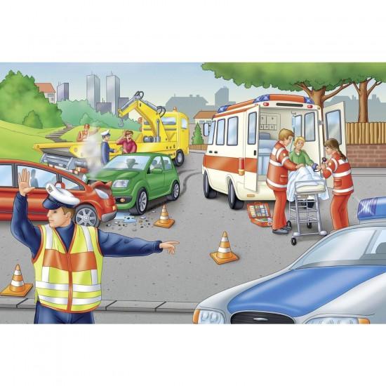 Puzzle 60 pièces : La Police - Schmidt-56112
