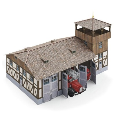 Maquette en carton : Caserne de pompiers - Schreiber-Bogen-717