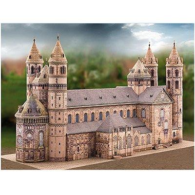 Maquette en carton : Cathédrale Saint:Pierre de Worms, Allemagne - Schreiber-Bogen-706