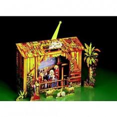 Maquette en carton : Petite crèche de Noël