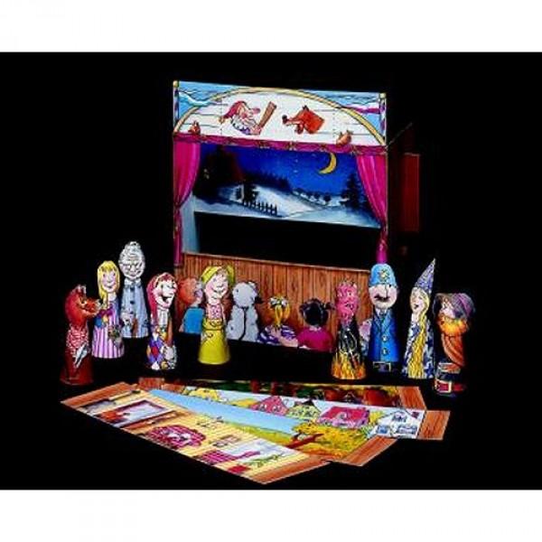 maquette en carton th tre de marionnettes jeux et jouets schreiber bogen avenue des jeux. Black Bedroom Furniture Sets. Home Design Ideas