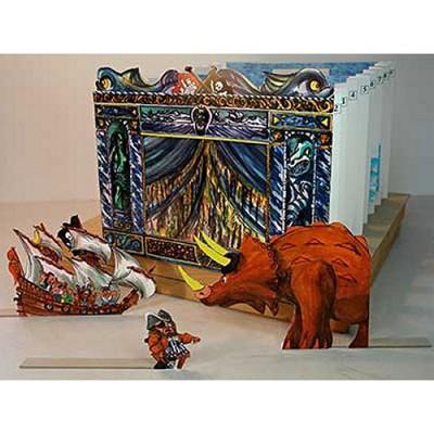 maquette en carton th tre de papier captain brogas le dernier des dinosaures schreiber. Black Bedroom Furniture Sets. Home Design Ideas