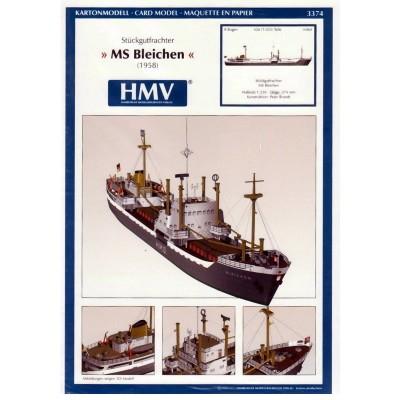 Maquette en carton : Bateau : Cargo Freighter MS Bleichen - Schreiber-Bogen-3374