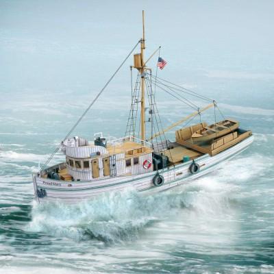 Maquette en carton : Bateau : Tuna Fish Trawler Proud Mary - Schreiber-Bogen-747