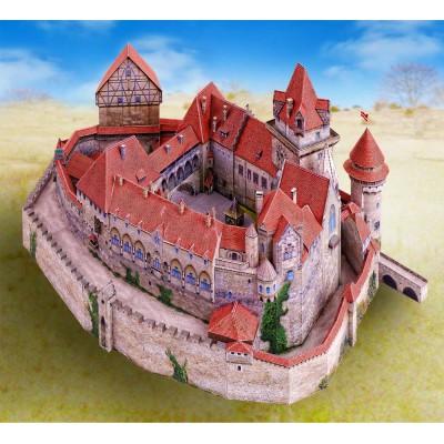 Maquette en carton : Château de Kreuzenstein, Autriche - Schreiber-Bogen-736