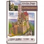 Maquette en carton : Château de Lichtenstein, Allemagne