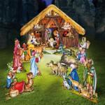Maquette en carton : Crèche de Noël