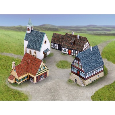 Maquette en carton : Ensemble Petit Village - Schreiber-Bogen-740