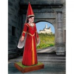 Maquette en carton : Figurine : Demoiselle du château