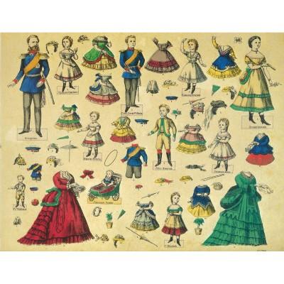 Maquette en carton : Kit de poupées Friedrich Wilhelm - Schreiber-Bogen-588