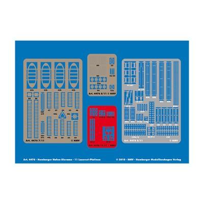 Maquette en carton : Laser-cut Set Hamburger Hafen - Schreiber-Bogen-4476