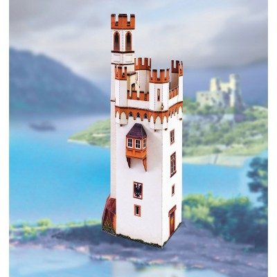 Maquette en carton : Mäuseturm de Bingen (Mouse Tower), Allemagne - Schreiber-Bogen-745