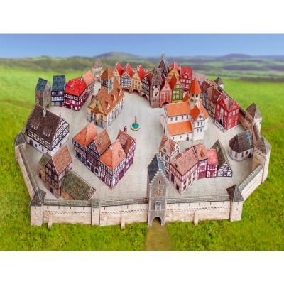 Maquette en carton : Ville médiévale - Schreiber-Bogen-729