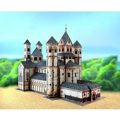 Maquette en carton : Abbaye Maria Laach, Allemagne - Schreiber-Bogen-578